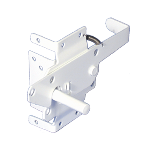 Self closing stainless steel vinyl gate latch