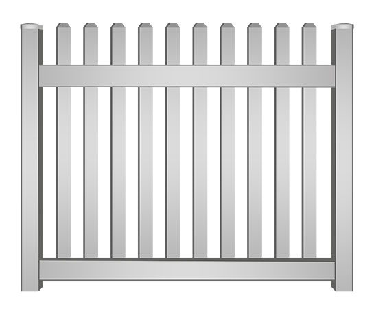 Vinyl Picket Fence in Martin County