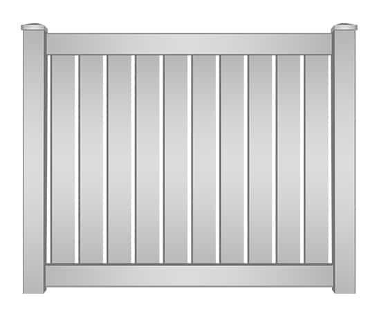 Boca Raton Vinyl Semi-Privacy Fence