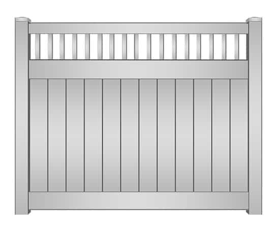 Boynton Vinyl Privacy Fence with Picket Accent