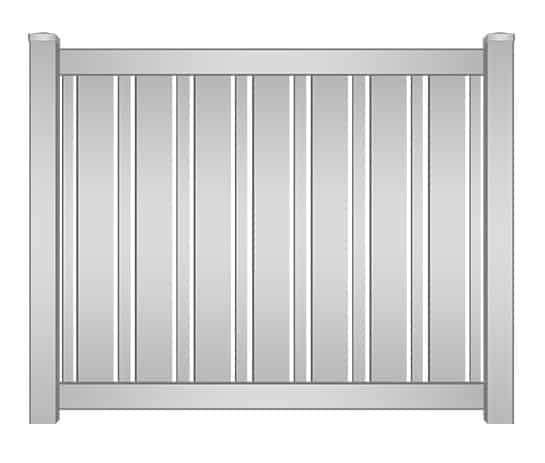 Delray Vinyl Alternating Picket Fence