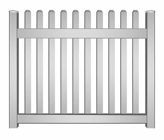 Vinyl Picket Fence Panel South Florida