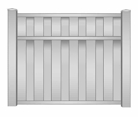 Jupiter Vinyl Shadowbox Fence