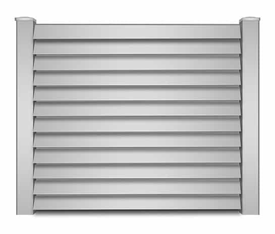 Key West Vinyl Louvered Fence