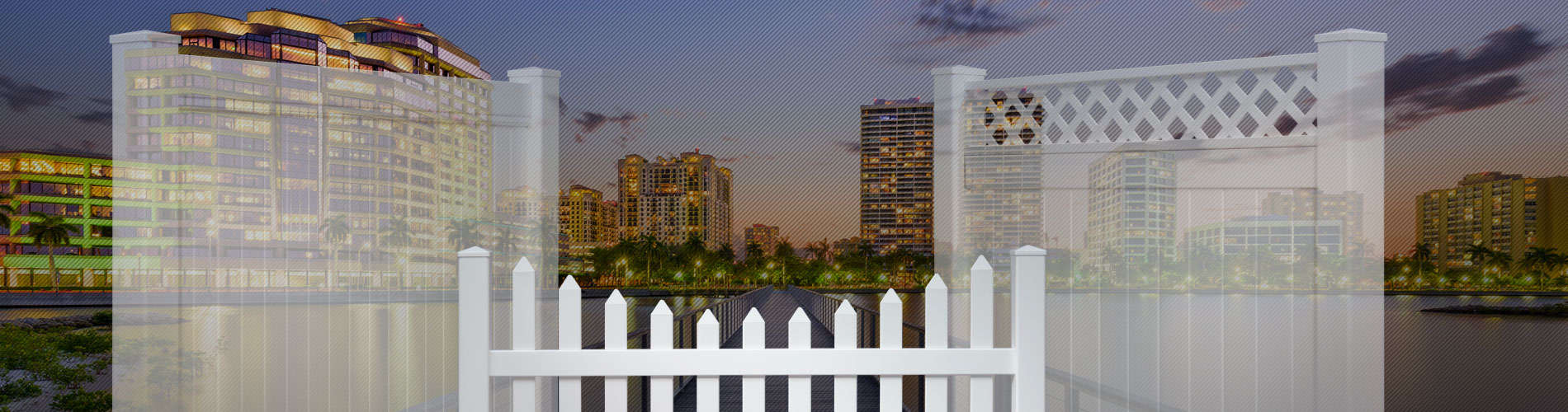 Palm beach county florida vinyl fence panels