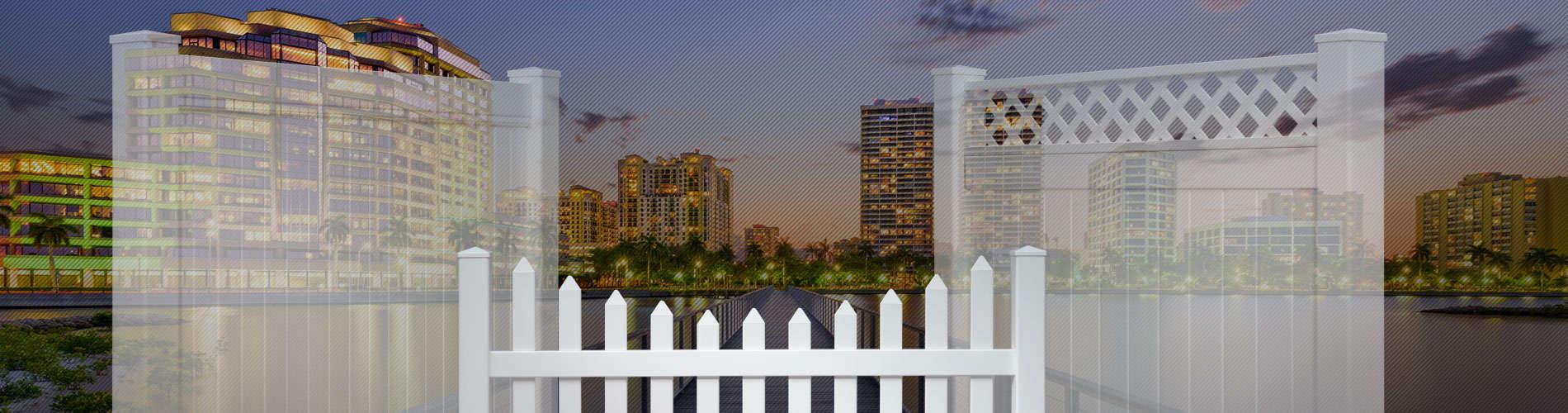 Palm beach county florida vinyl fence panels